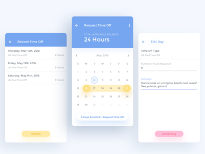 Time Off App Concept