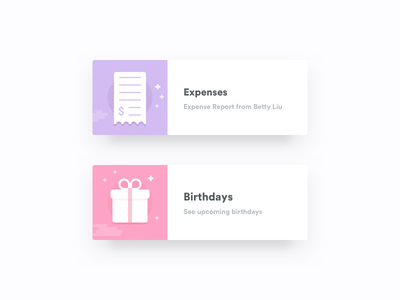 HR Card Set 2 stars clouds card animate card present icon birthday expenses hr icons app icons active