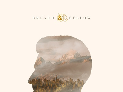 B&B Album Cover burn effigy breach bellow clouds mountains composite ampersand photography photo record album cover album cover music