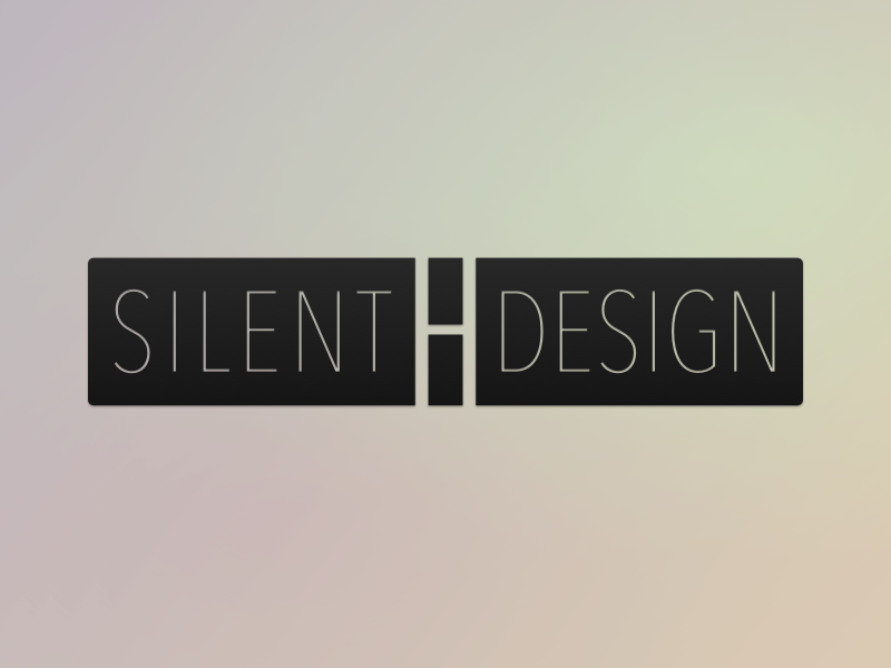 Silent H Design - Logo logo typography