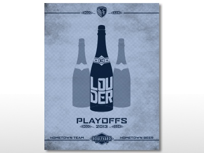 Sporting KC/Boulevard Beer playoff canvas print
