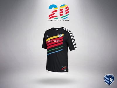 Sporting KC/Kansas City Wizards Throwback Training Top apparel sporting kc sporting kansas city soccer mls kit kc kansas city jersey adidas
