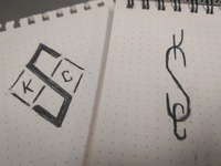 SKC monogram sketches
