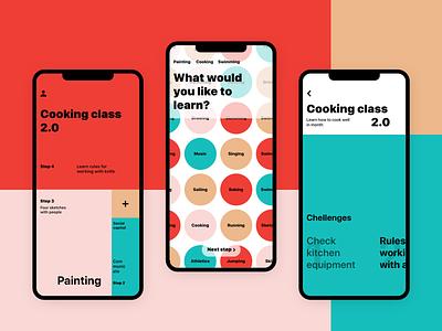 Сhallenge app todo layout color block challenge design interface ios clear simple minimal color typography ux ui app mobile