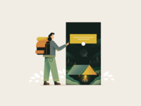 Camping web illustration app illustration app design app camping camp character art icon web simple ux flat ui texture vector design illustration
