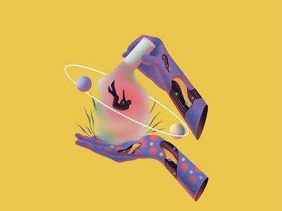 Dream of falling graphicdesign graphic art direction artwork art dream ui typography logo flat branding ux texture design vector illustration