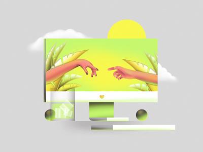 We should go out gradient graphicdesign illustration art vector flat icon art simple web design ui ux texture illustration