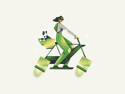 Buddy rider flatdesign graphic cute animal cute dog character art icon web design ux flat ui texture illustration