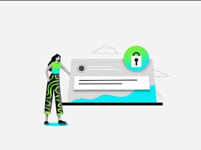 Locklet.finance webdesign web minimal simple gradient token blockchain crypto flat typography branding logo ux ui texture design vector illustration