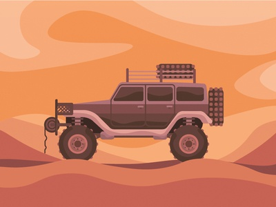 Off road art vector icon jeep illustration off road