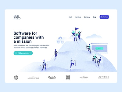 Homepage Illustration typography minimalism interface editorial character brand animation ux ui web design illustration