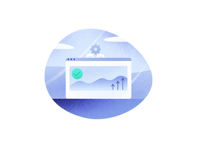 Secure & Scalable ios icons team ux ui download web design noise texture illustration