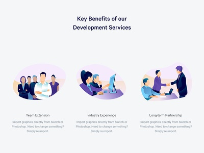 Development services web ux ui typography minimalism interface illustration editorial design character brand animation