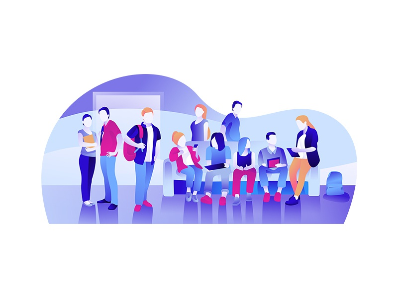 Group of people web ux ui typography minimalism interface illustration editorial design character brand animation
