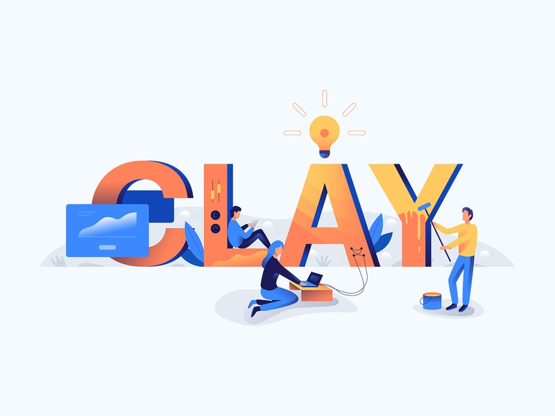 Clay team animation icon ui ux web branding editorial download icons graphic character art minimal flat simple texture design vector illustration