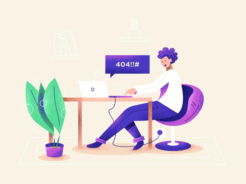404! animation download icons graphic character art icon minimal web ux ui simple flat texture design illustration vector error 404 error 404