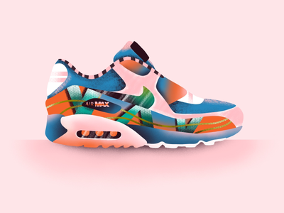 Air Max illustrator web ux ui graphic art icon illustration vector airmax nike