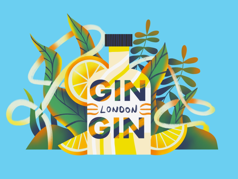 Gin London download texture flat minimal simple ux ui drink vector icon london gin illustration