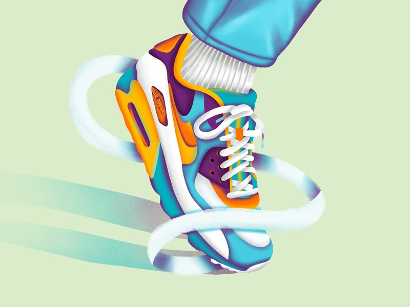 AirMax 90 animation download icons graphic character ui minimal vector art icon web ux simple typography flat texture design illustration airmax nike