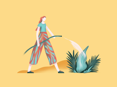 Nature lover character design art plant flat simple graphic web ux ui vector logo icon nature illustration