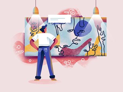 Artist minimal chat art direction freelance illustrator painting artist art character design character icon web simple flat ux ui vector texture design illustration