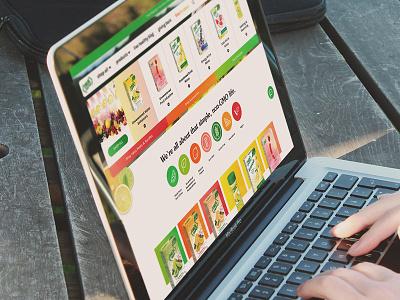True Citrus Website Concept ux graphic design ui
