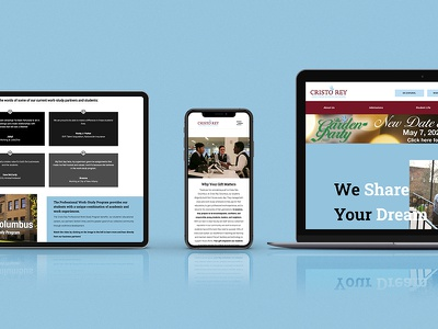 Cristo Rey Columbus High School Website Overhaul design identity ux ui