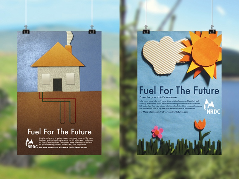 "NRDC ""Fuel for the Future"" PSA public service announcement fuel future fuel for the future photography craft crafting construction paper campaign psa nrdc"