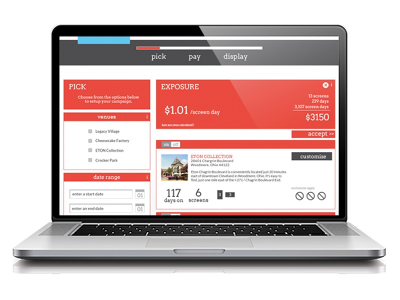 [adhoc] digital Advertising Platform frontend backend website ux ui interface identity web design signage digital bar signage advertising