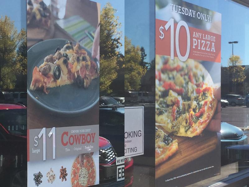 Papa Murphy's Store Signage decal vinyl papa murphys pizza food retail store signage