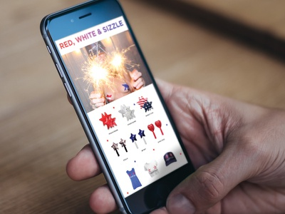 Bristols6 Email Campaign animated fourth of july e-blast email marketing bristols6 pasties nippies email