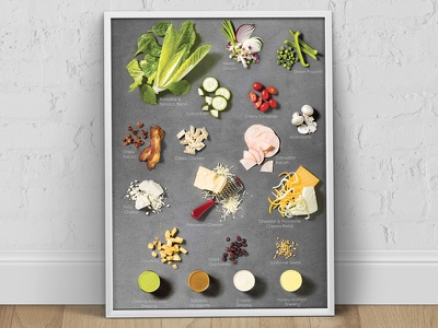 Papa Murphy's Promotional Photography promotional signage poster stanchion ingredients salad fresh food photography