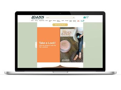 Fall LookBook Landing Page - Jo-Ann Fabrics joann fabrics landing page lookbook fall