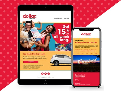 Dollar Car Rental Brand Rejuvenation dollar car rental digital branding rebrand
