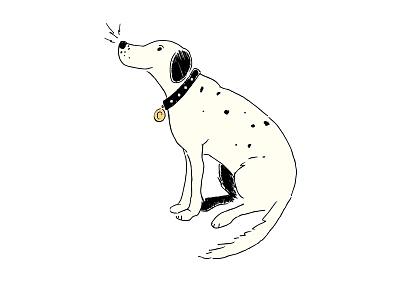 illustration for Trader Joe's doggy snacks trader joes pen and ink sketch illustration retro vintage dog