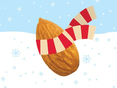 Almond Dribbble christmas snow winter beverage egg nog almond trader joes