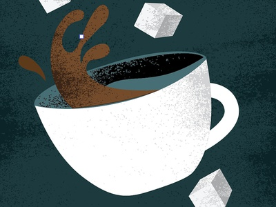 serving suggestion spilling spill sugar sugar cube cup coffee trader joes
