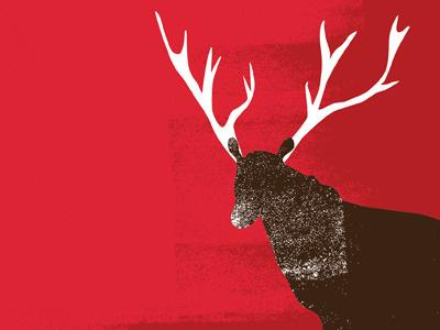 Reindeer reindeer deer holiday christmas illustration
