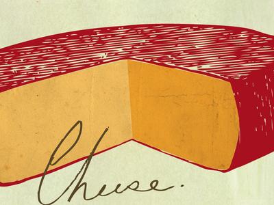 Cheese cheese wheel wax