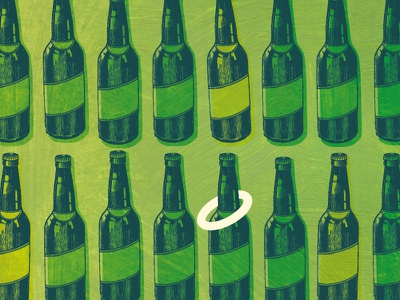 Bottles county fair games ring toss beer bottles greens