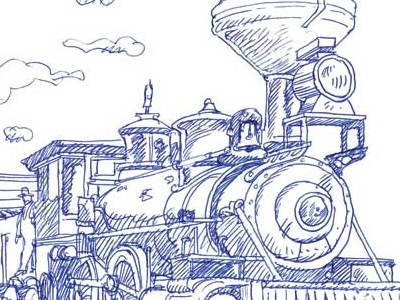 Locomotive locomotive esferographic pen train