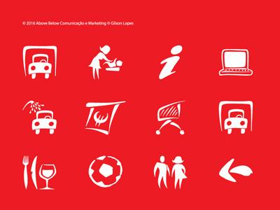 Símbolos Continente Amadora graphic design illustration symbol signage
