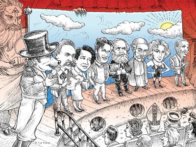 Egoista magazine illustration