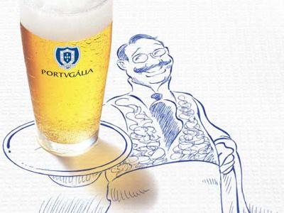 Portugalia poster illustration portugalia