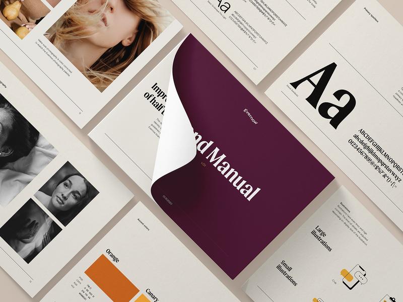 Evernow Branding lifestyle feminine autumn gen x intimacy guideline idenity typography medical women healthcare branding