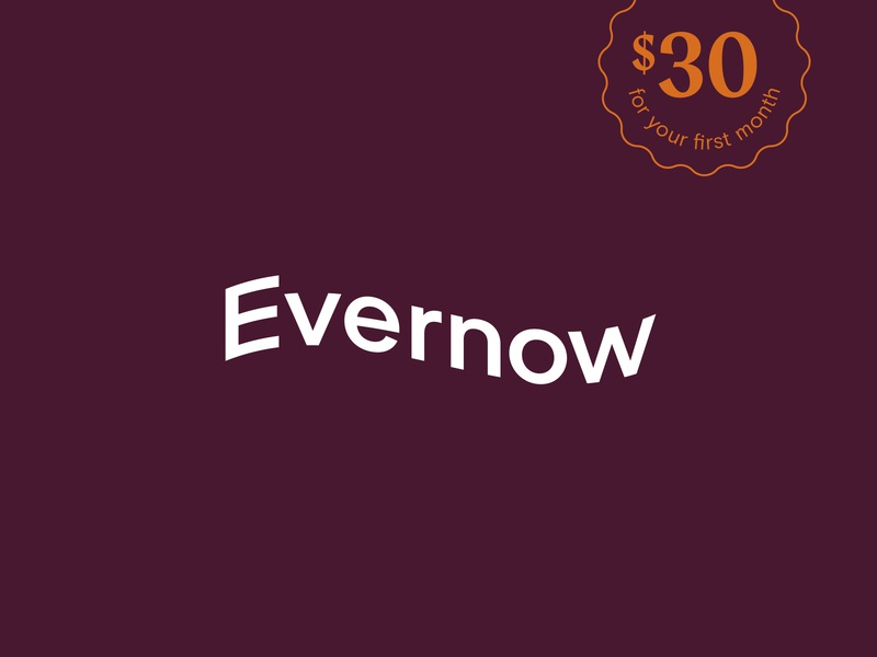 Evernow Logo women wordmark maroon stamp menopause feminine branding idenity wave logo medical healthcare