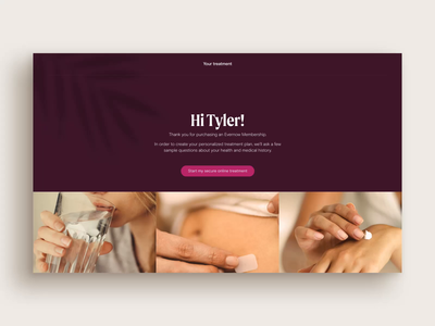 Evernow: Onboarding quiz health responsive icons animation medical questionnaire form onboarding menopause healthcare quiz website