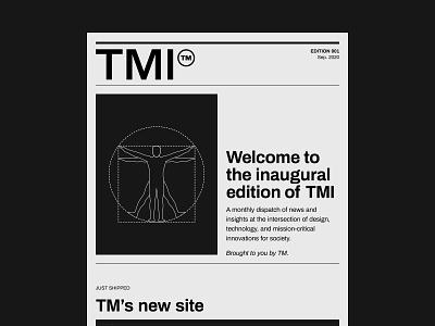 TM newsletter typogaphy vector ui figma subscribe vitruvian man newsletter design illustration newspaper agency email newsletter