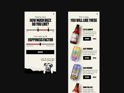 Lagnitas – Beer Quiz brewer boxes handwriting illustration paper grunge textures oldschool hippie ipa silly dog responsive ecommerce shop alcohol beer quiz mobile website