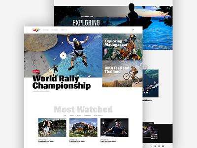 Red Bull TV action interface streaming white tv redbull video platform
